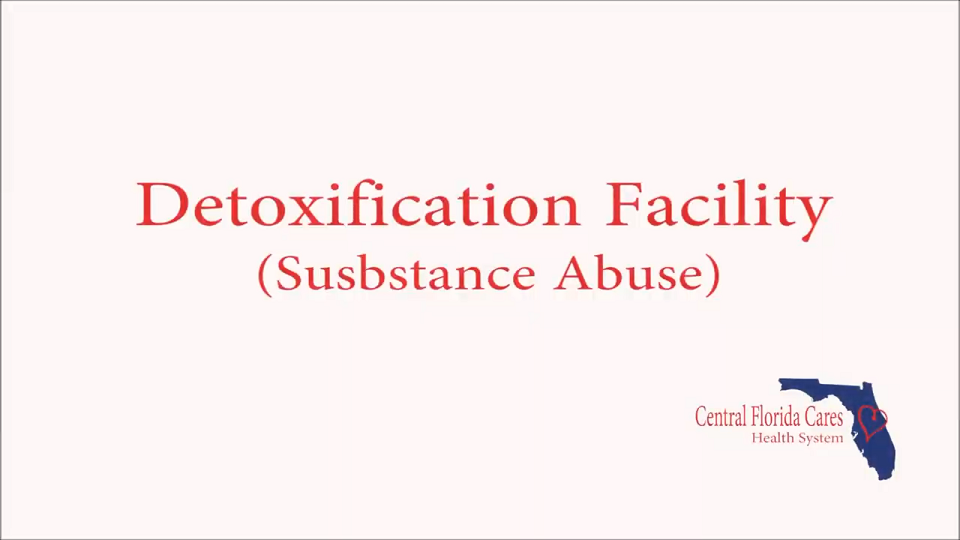 Detoxification Facility Substance Abuse